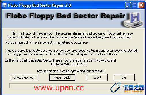 flobo floppy bad sector repair